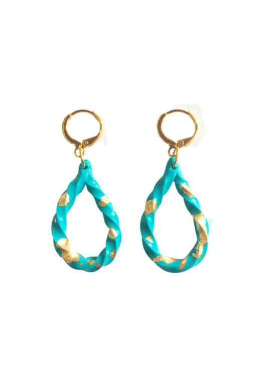 boucle turquoise or