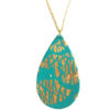 collier turquoise et or