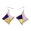 boucle losange violet et or