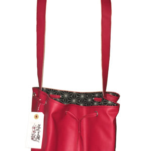 sac à main rouge tissu japonais Akemi