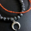bracelet lave lune rouge 1