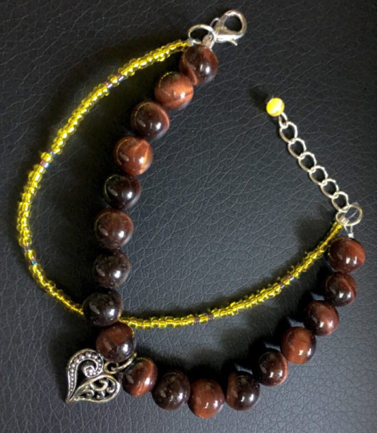 bracelet oeil de taureau coeur 1