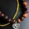 bracelet oeil de taureau coeur